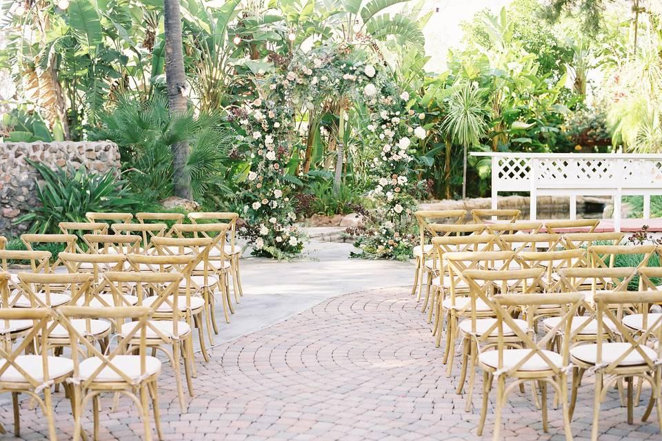 Vineyard ceremony chairs