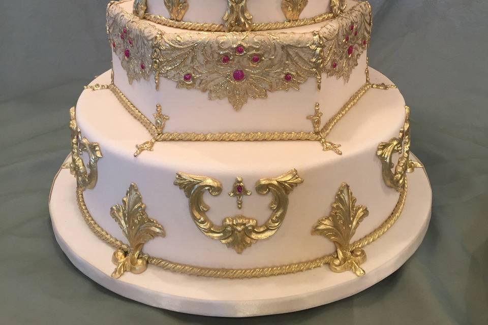 Intricate gold designs