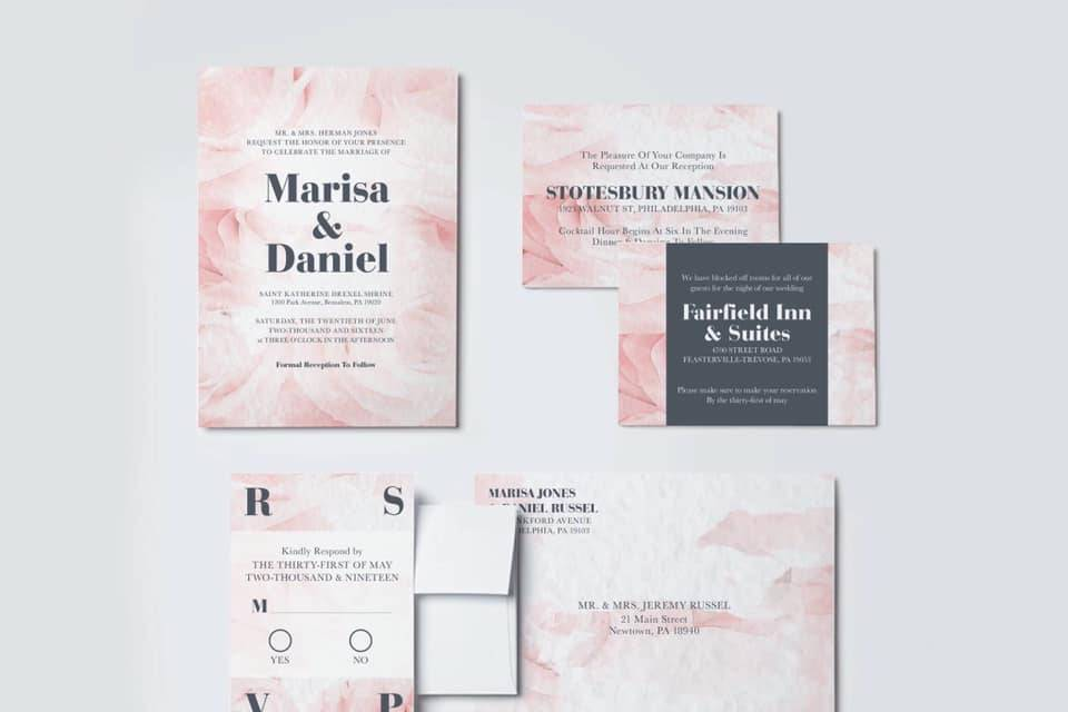 Pink Rose wedding suite