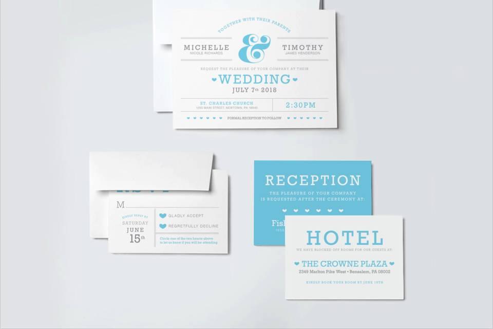 Blue Hearts wedding suite