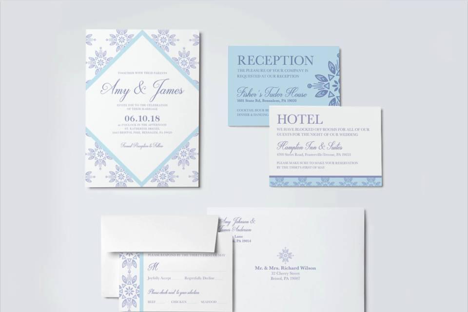 Lavender wedding suite