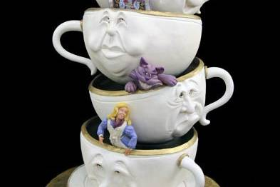 Teacup stack cake