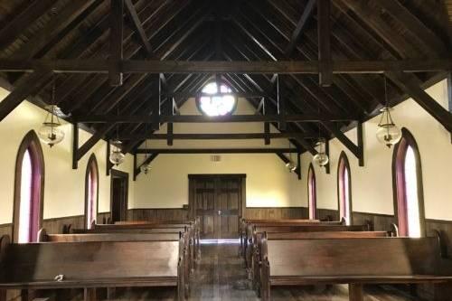 Interior of the 1800s Historic Replica Church
