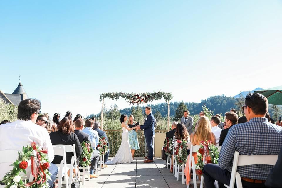 Ceremony on Geneva Terrace