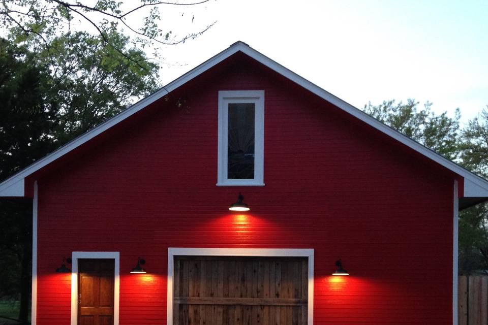 Red barn entrance