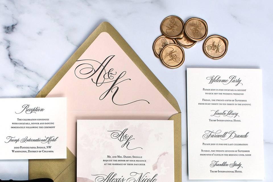 High-end luxury letterpress