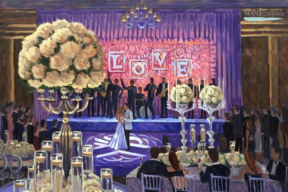 Wed on Canvas, Live Wedding Artist Ben Keys