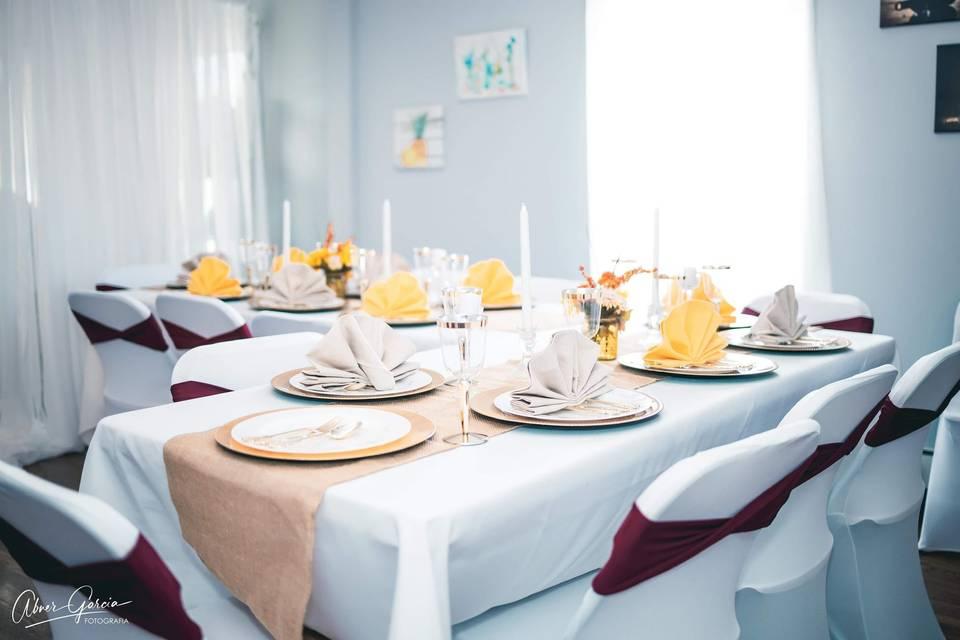 Setup for a micro-wedding
