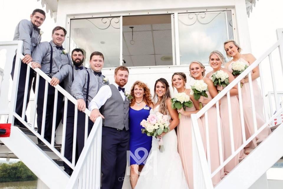 BB Riverboats Wedding