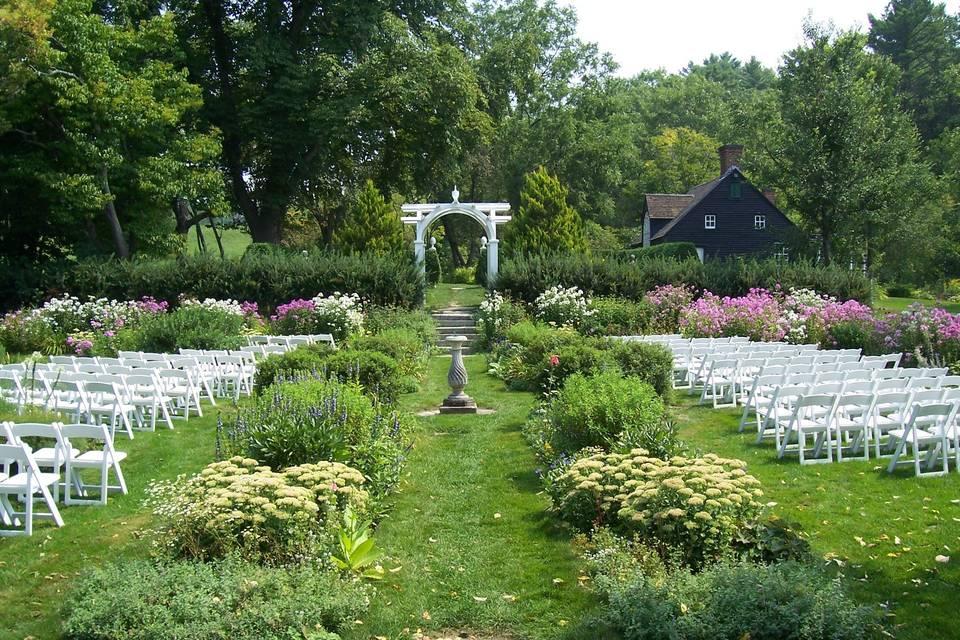 The Hamilton House Garden wedding venue