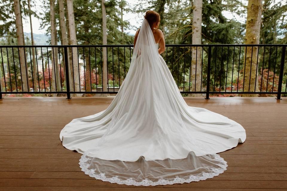 Bride in her DRESS!
