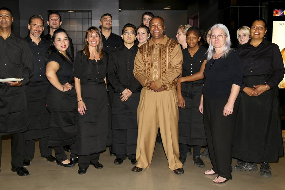 Chef and staff