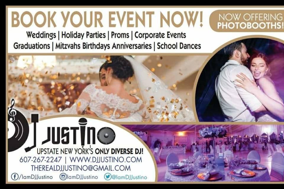 DJ Justino Event Expert & Wedding Professional
