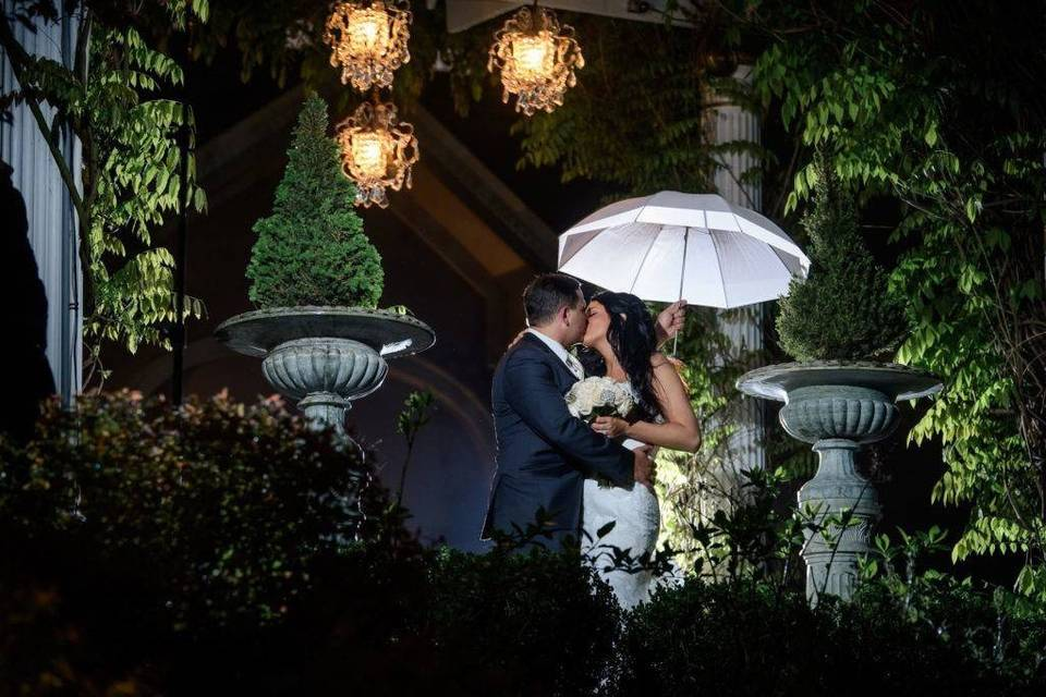 A moment under an umbrella