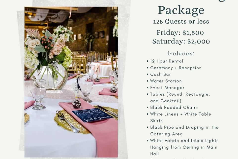 Micro Wedding Package