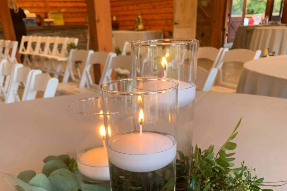 Candlelight table center