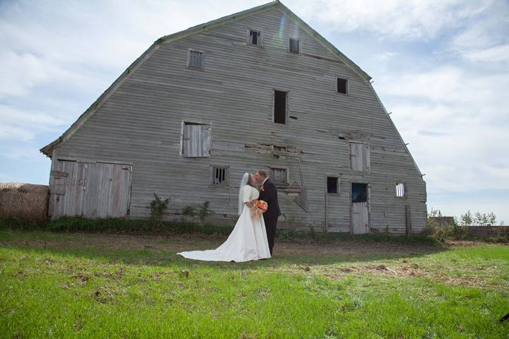 Rustic barn backdrop