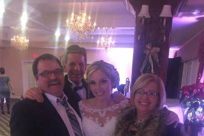 Newlyweds and guests