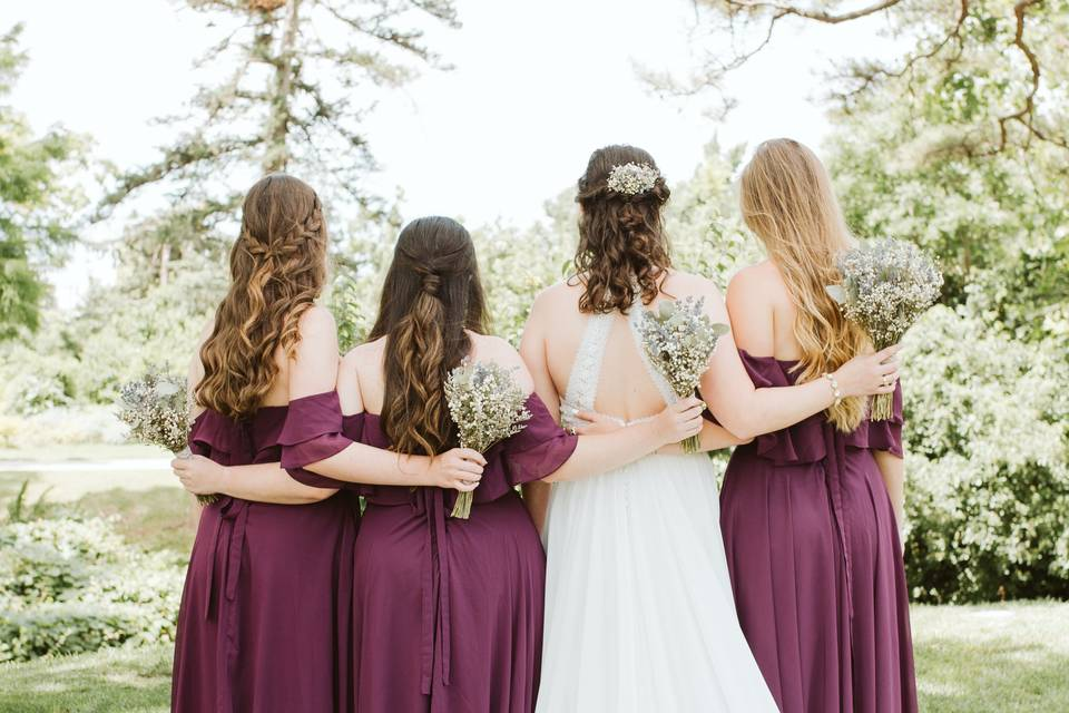 Bride and her party