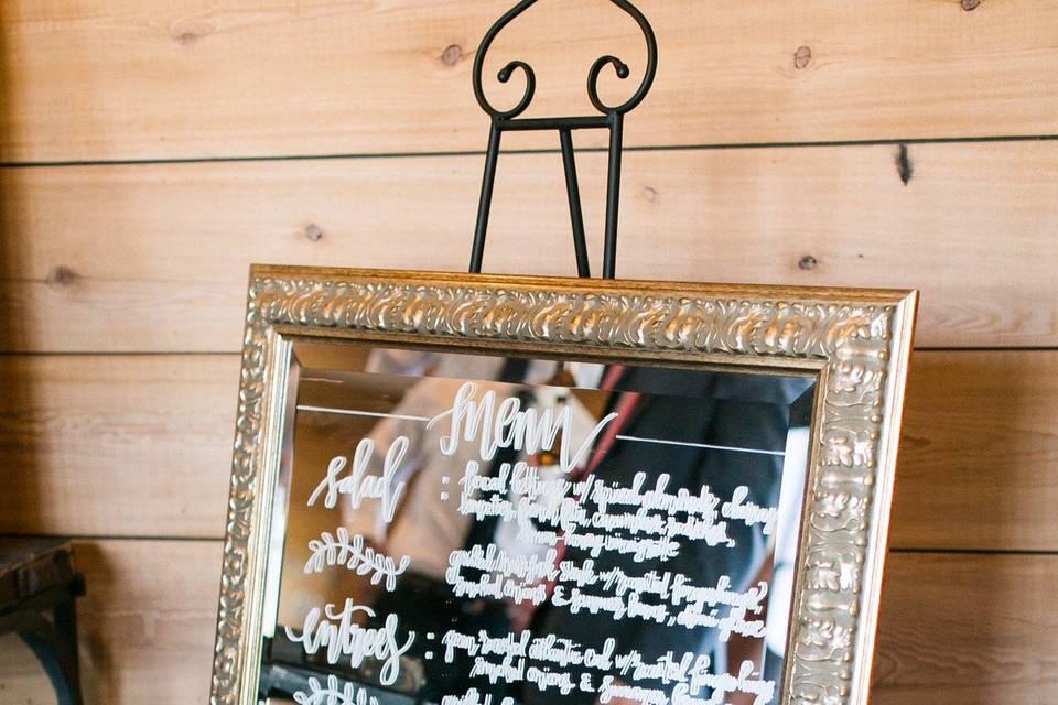 Mirrored menu
