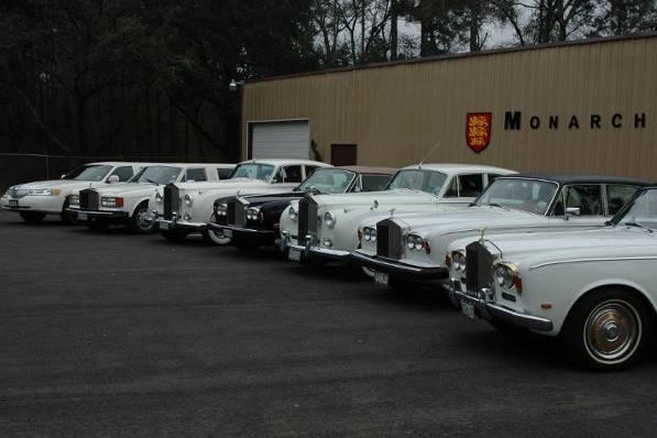 Monarch fleet of classic Rolls Royces