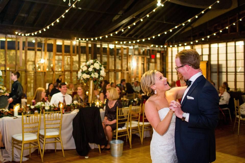 Newlyweds' reception