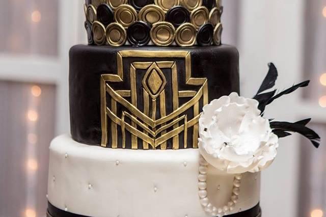 Great gatsby wedding cake design