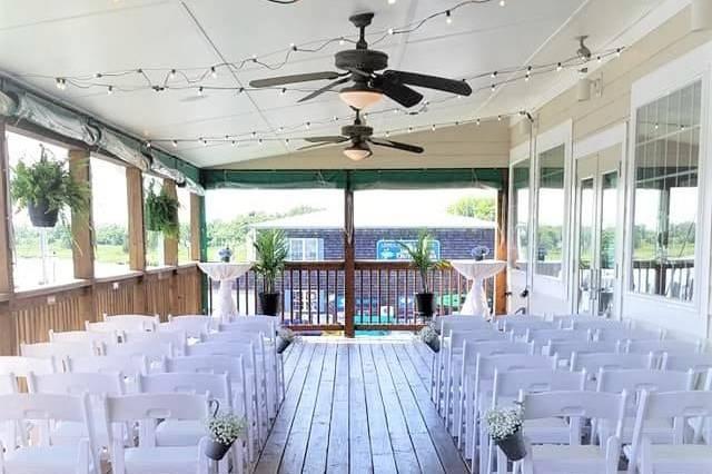 Wedding ceremomy setup