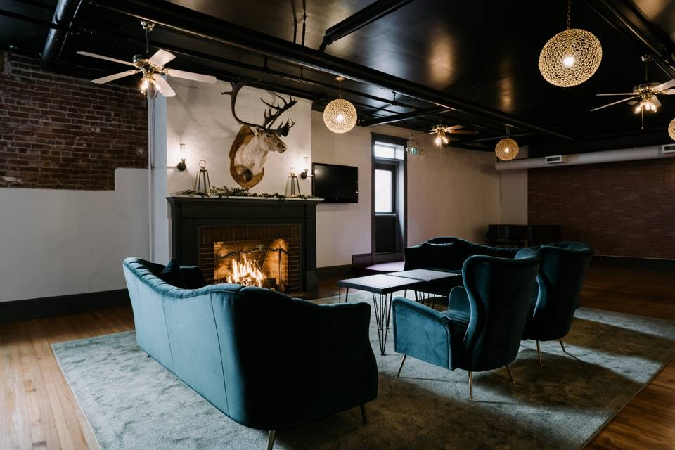 Fireside seating area