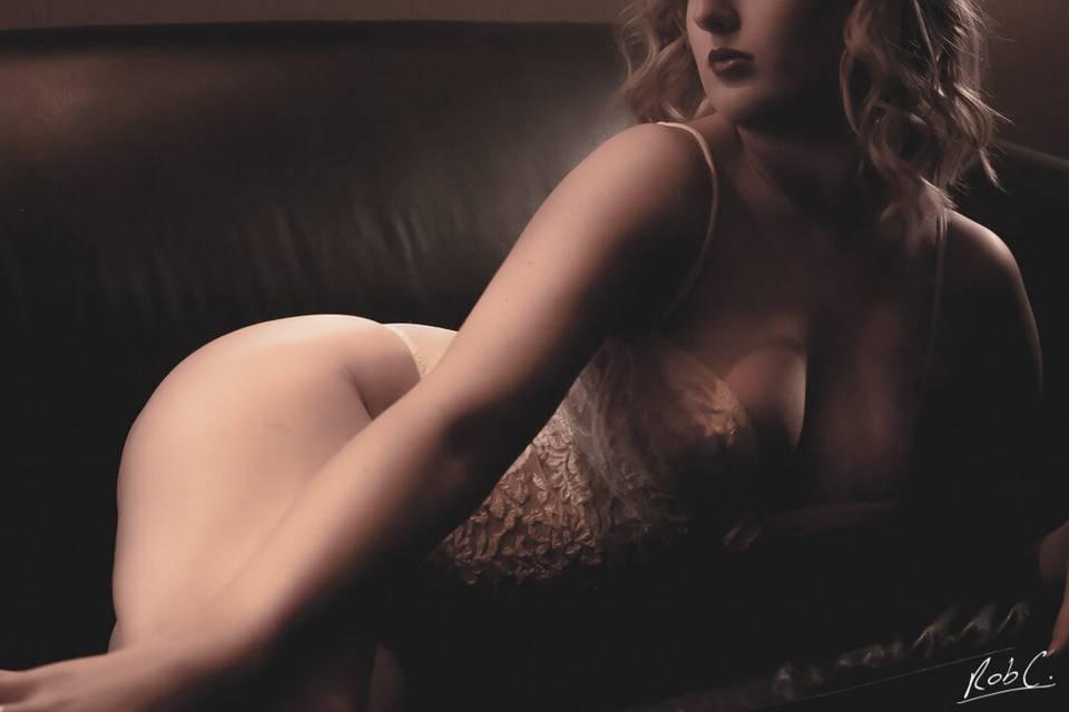 Wedding night boudoir shoot