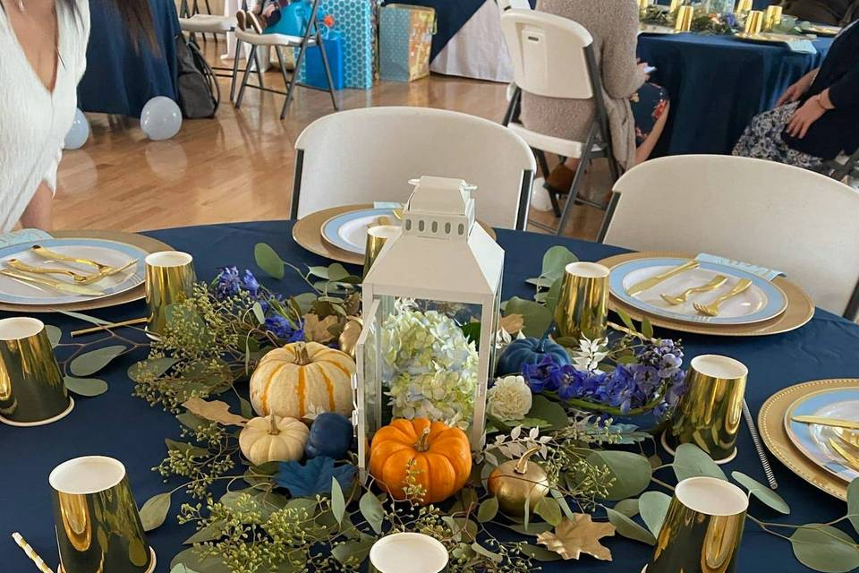 Baby Shower Table Decor