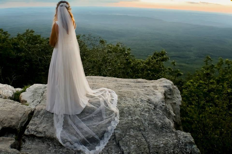 Bride at Pulpit Rock