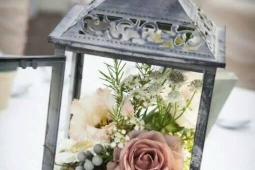 Flowers in a lantern