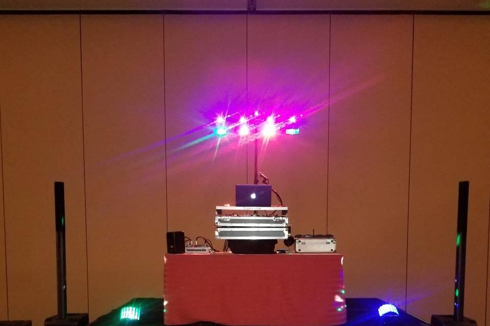 Corporate Set Up w/ Lights
