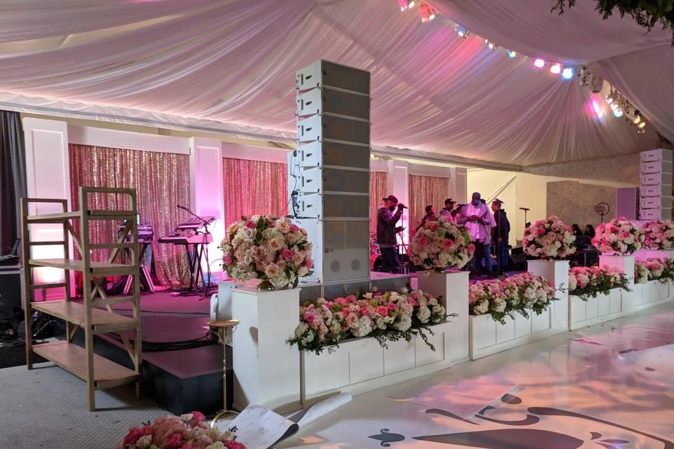 Audio and custom stage design
