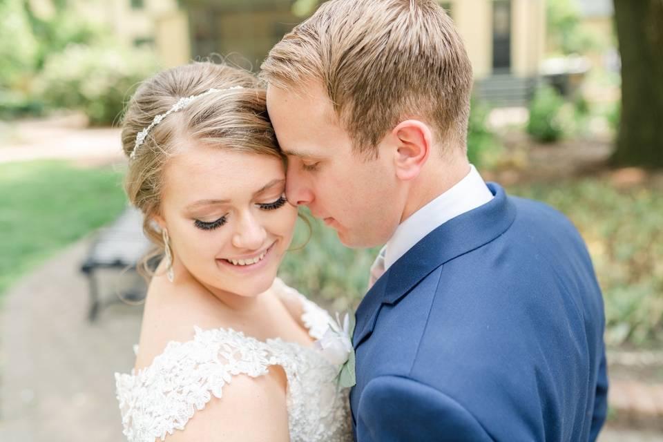 Portrait of the happy couple - Makayla Beth Photography