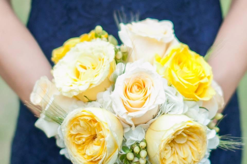 Delicate yellow arrangement