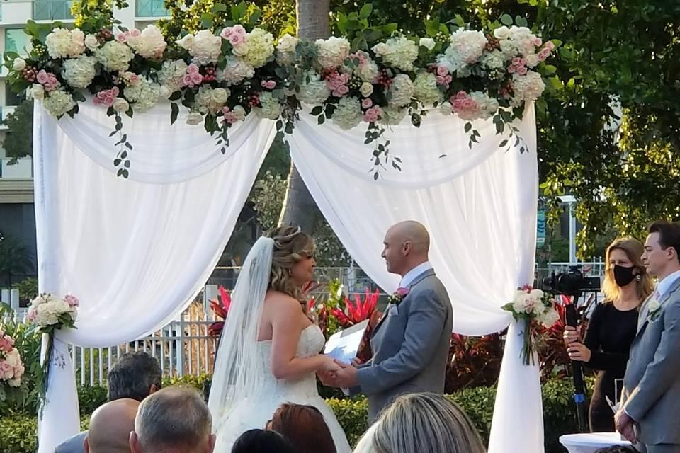 Ceremony on River Patio