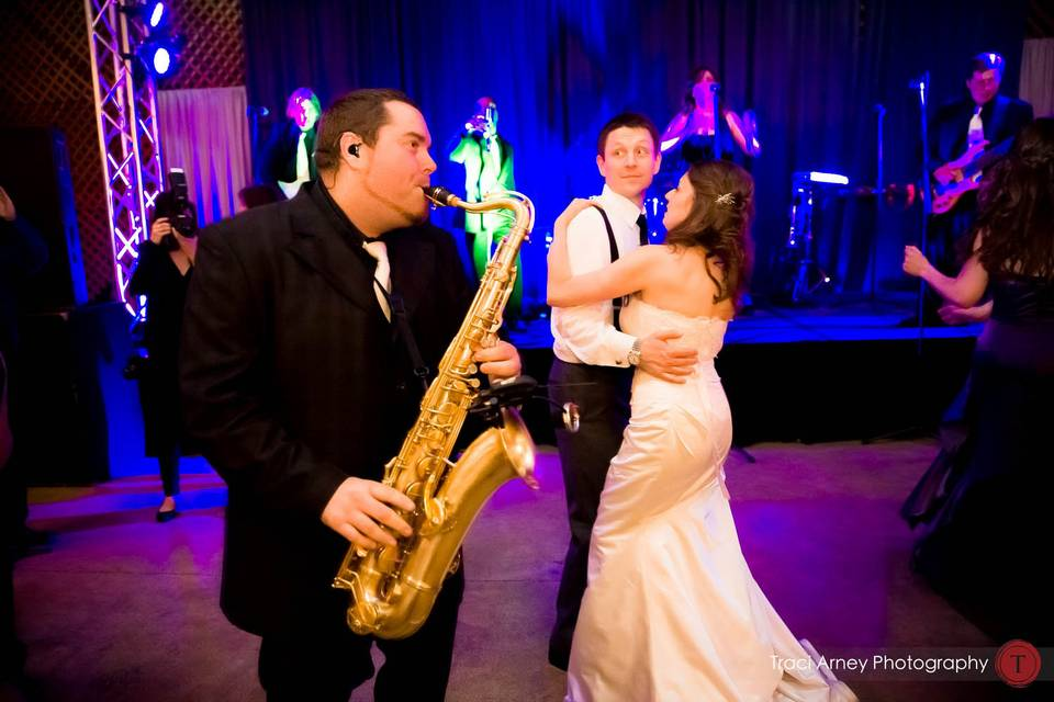 Dancing to the sax
