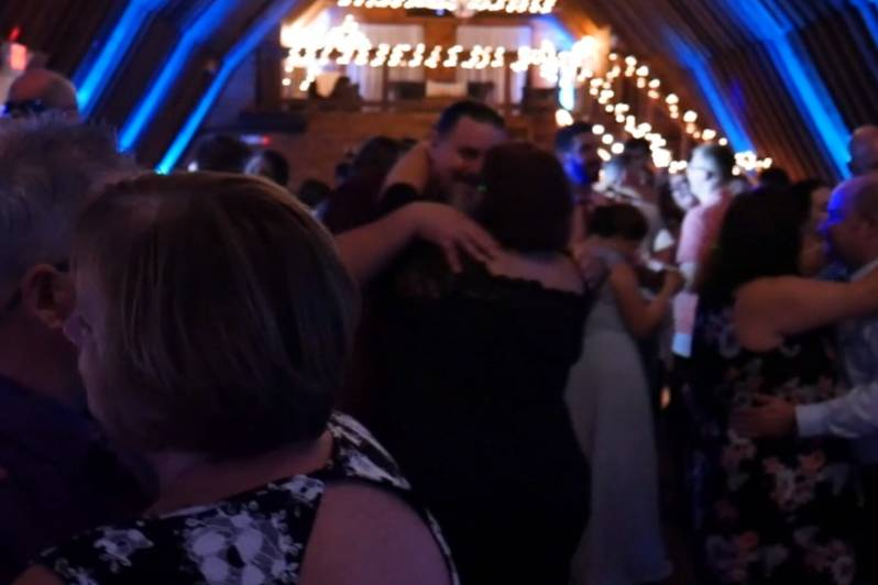 Packed floor at wedding