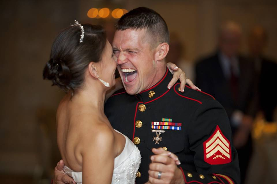 Military wedding at the Olde Mill Inn