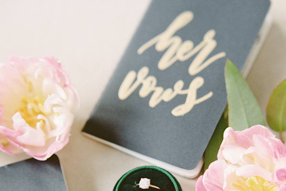 Vows and wedding rings