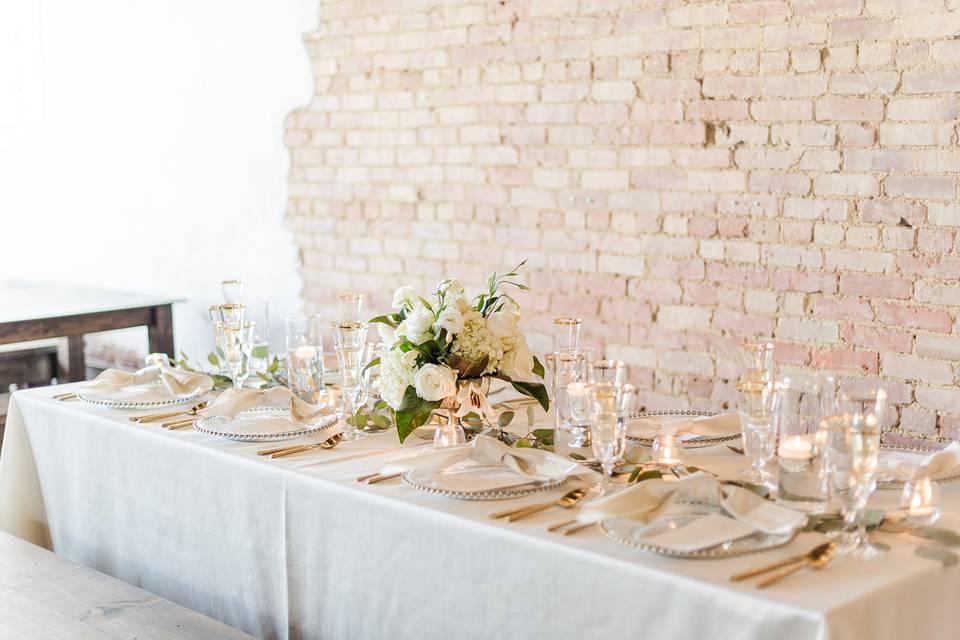 Wedding Reception Table Scape