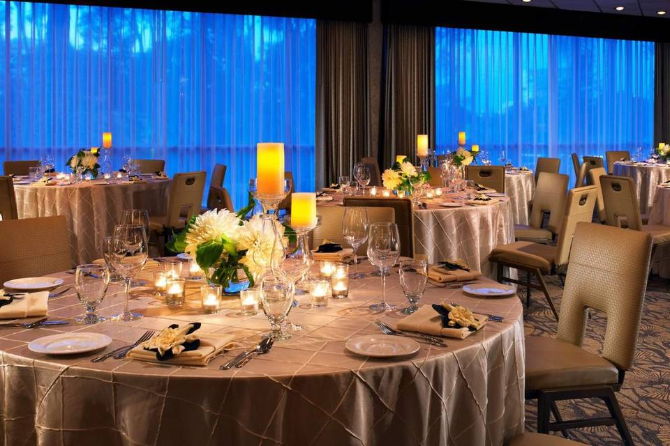 Executive Ballroom with candles on tables