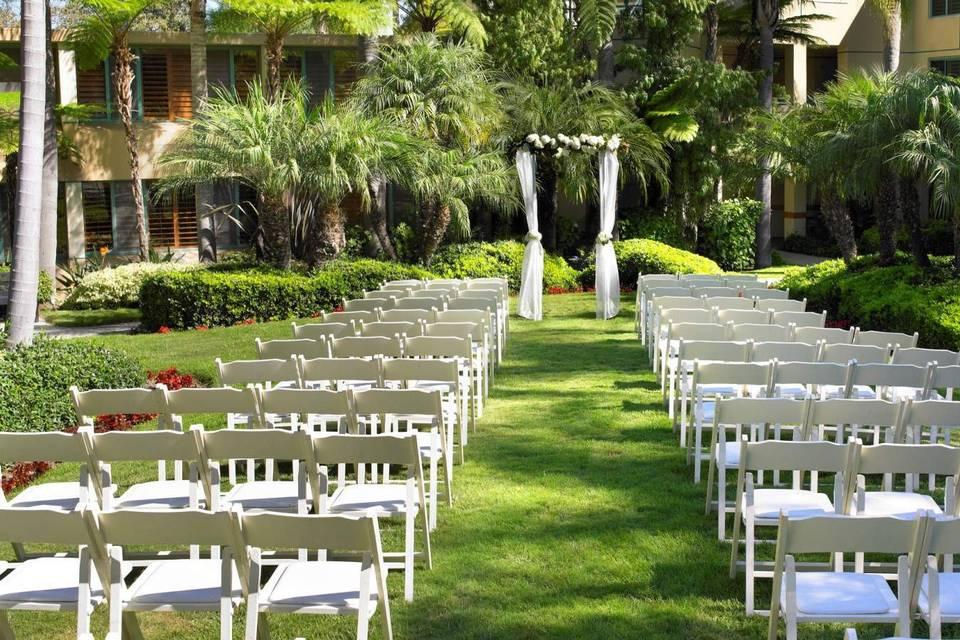 Ceremony chairs setup