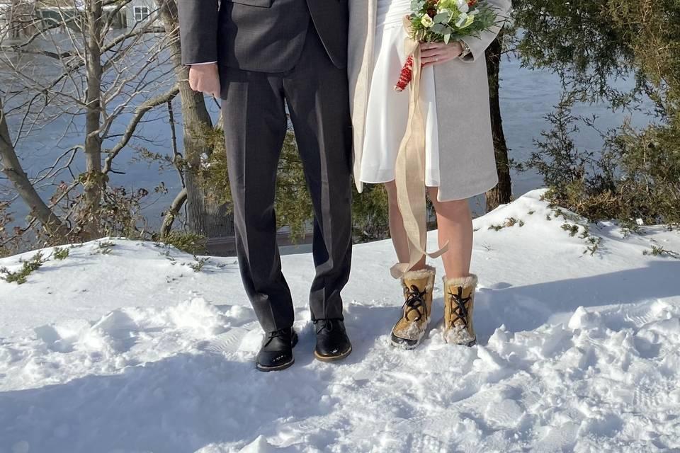 Snowy wedding