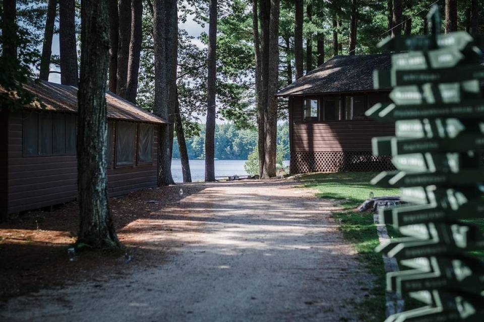 Cabins in the grove