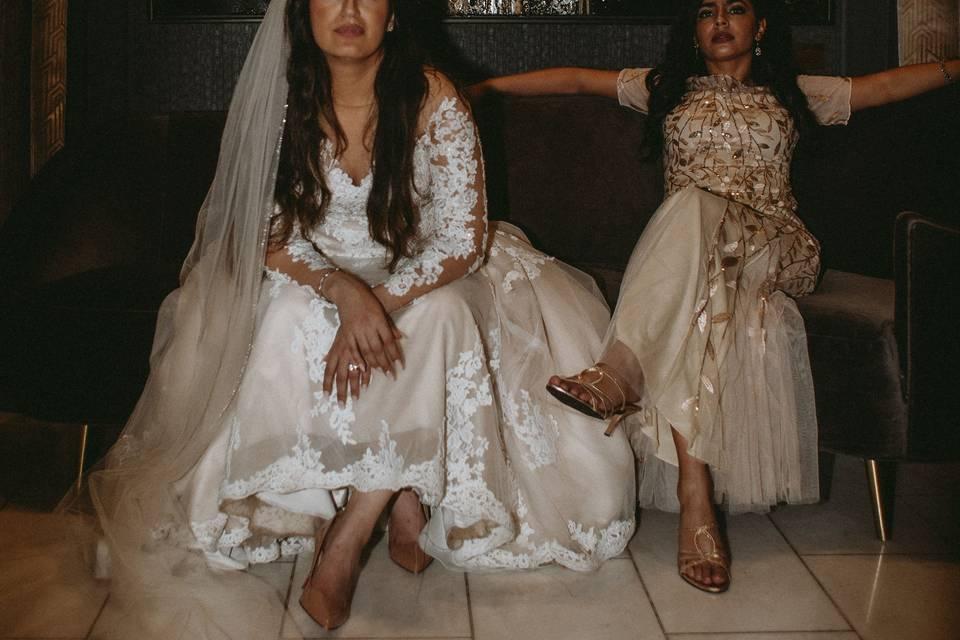 Behind the scenes- Bride