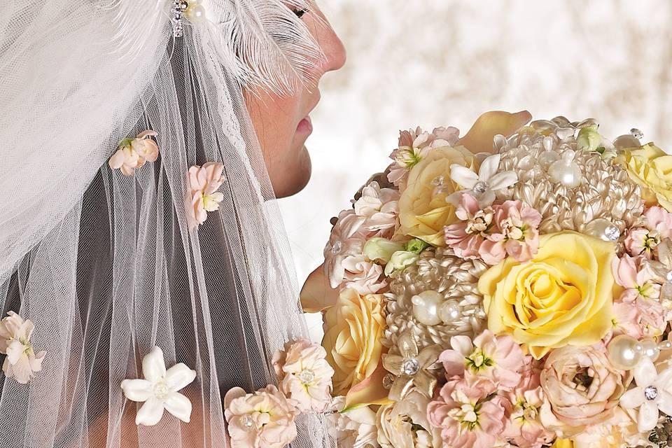 Pastel colored bouquet