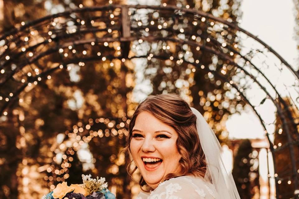 Wedding day happiness